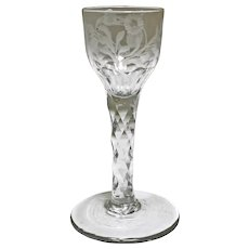 c. 1740 Continental Wine Glass