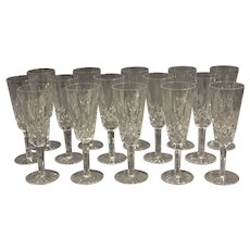 Set of 15 Champagne Flutes by Waterford