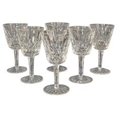 Set of 6 Wine Glasses by Waterford