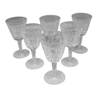 Set of 6 Waterford White Wine Glasses