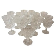 Set of 16 Waterford Cocktail Glasses
