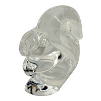 Vintage Steuben Glass Squirrel Hand Cooler
