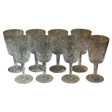 Set of 8 Lismore by Waterford Water Goblets