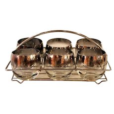 Set of Dorothy Thorpe Roly Poly Cocktail Glasses