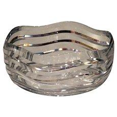 Mid Century Modern Cut Glass Bowl