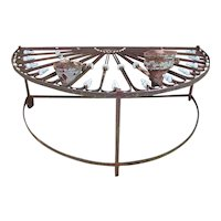 Mid-19th Century French Iron Fan Light Converted Table