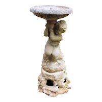Victorian Cast Stone Cherubic Child Fountain
