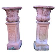A Pair of Terra Cotta Jardineres