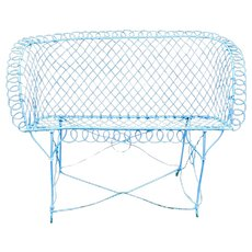 Wire Work Continuous Arm Loveseat
