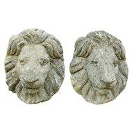Cast Stone Lion Masks