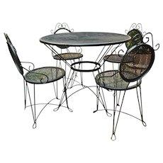 Charming Wrought Iron Garden Set
