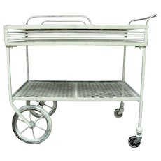 Wrought Iron Patio Bar Cart