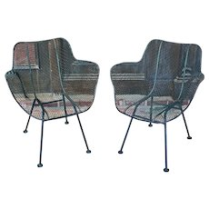 Pair of Sculptura Arm Chairs by Woodard
