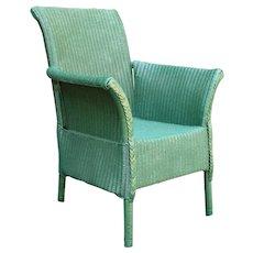 1920s Wicker Garden Arm Chair