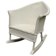 1930s Wicker Child's Rocking Chair