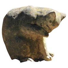 Curious Cat Garden Statue