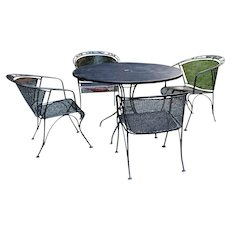 Wrought Iron Table and Four Chairs