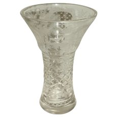 Flared Blown Glass Vase, Late 19th Century