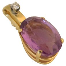 14k Gold Enhancer Set with an Oval Amethyst