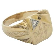 14kt Gold Mens Ring