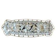 A gorgeous diamond pin set in platinum