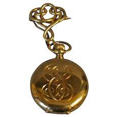 14K Gold Waltham Watch Set