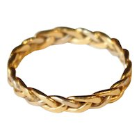 Braided Gold Ring