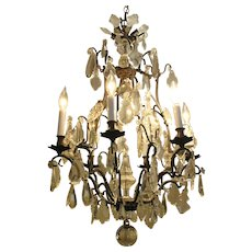 French Patinated Chandelier