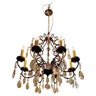 Iron & Crystal 8-light Chandelier