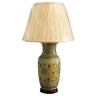 A 19th century Chinese vase now mounted as a lamp