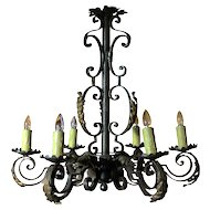 Iron & Gilt Chandelier
