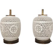 Pair of Porcelain Wedding Lamps