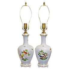 Pair of Herend Lamps