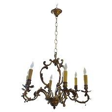Bronze Rococo Chandelier