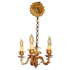 Early 20th Century French Rococo 5-Light Small Chandelier