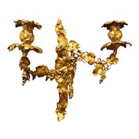Mid 19th Century French Rococo Revival Bronze Wall Sconce