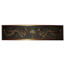 Early 20th Century Chinese Embroidered Panel of Dragons