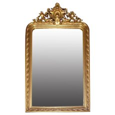 Louis Philippe Gilt Gesso & Wood Mirror