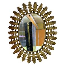 Metal Oval Mirror