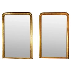 Early 19th Century Pair of French Louis Philippe Gilt Mirrors