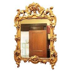 c. 1850 European Rococo Gilt Mirror