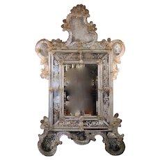 Baroque-Rococo Transitional Revival Venetian Mirror