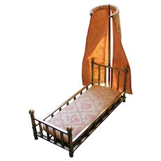 19th-20th Century French Miniature Bed