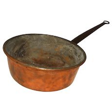 Early 19th Century French Copper Pot