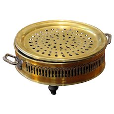 French Brass Plate Foot Warmer