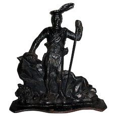 19th Century Cast Iron Doorstop of Robert the Bruce