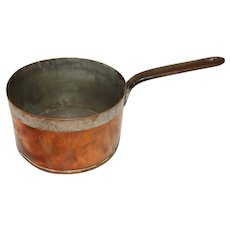 19th Century French Copper Large Sauce Pan