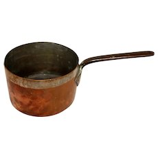 19th Century French Copper Deep Sauce Pan