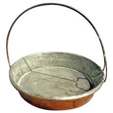 Mid 19th Century French Copper Hanging Pan