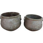 Pair of Bronze Jardineres